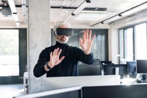VR business man